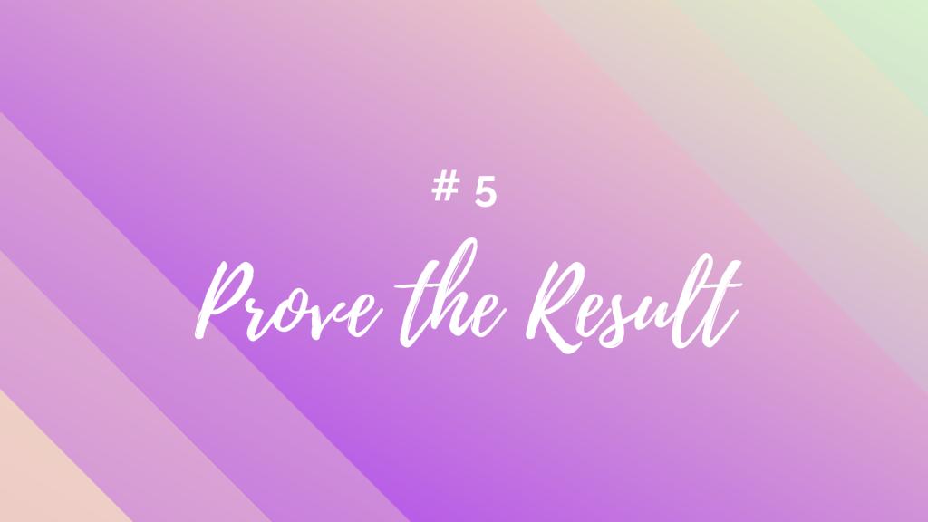 prove the result
